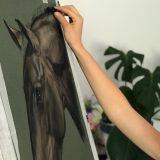 equine pastel custom horse painting